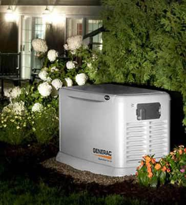 Generac home generator installation in Indiana mansion